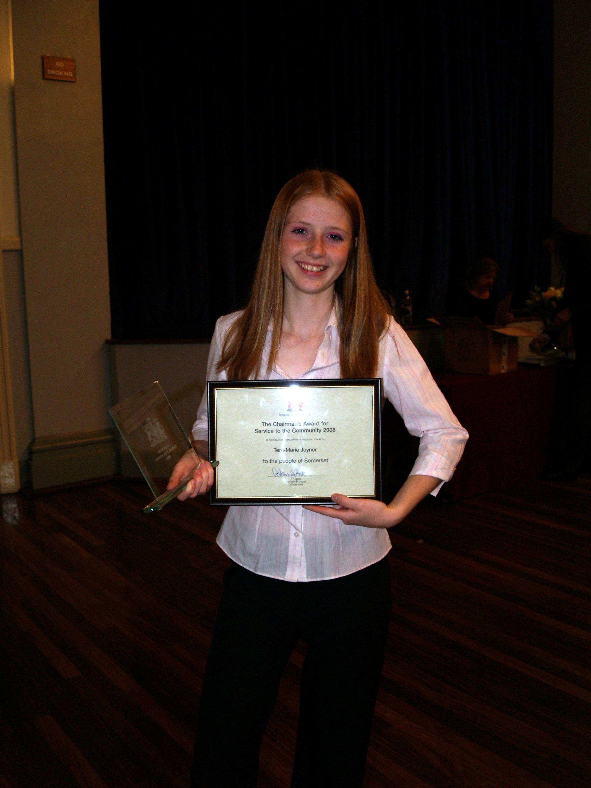Terri - Marie Joyner & her County Award 1